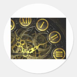 Inner Clock Works Classic Round Sticker