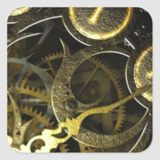 Inner Clock Works Square Sticker