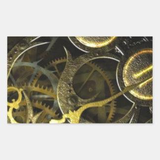 Inner Clock Works Rectangular Sticker