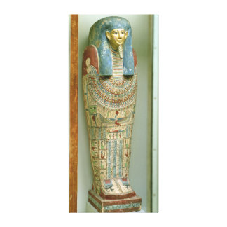 Inner coffin of Djeho son of Psammetichus Gallery Wrapped Canvas