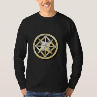 Inner Compass - Long Sleeve Black T T-Shirt