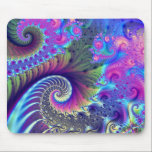 "Inner Ear Mouse Pad<br><div class=""desc"">Extremely vibrant and colorful multilayered fractal.</div>"