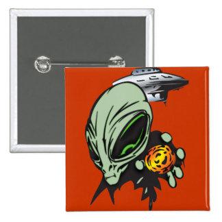 Inner Earth Aliens Pinback Button