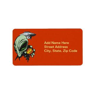 Inner Earth Aliens Label