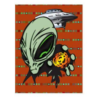 Inner Earth Aliens Postcard