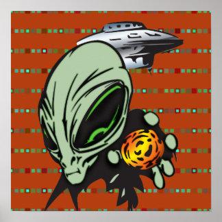 Inner Earth Aliens Poster