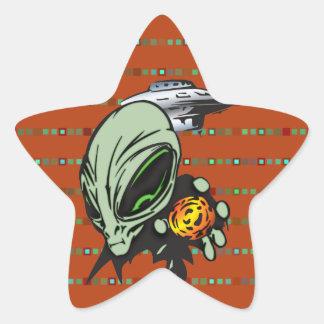 Inner Earth Aliens Stickers