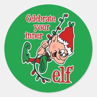 Inner Elf Classic Round Sticker