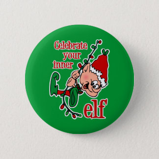 Inner Elf Pinback Button