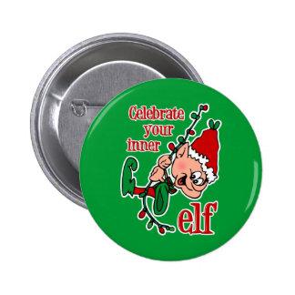 Inner Elf Pinback Button