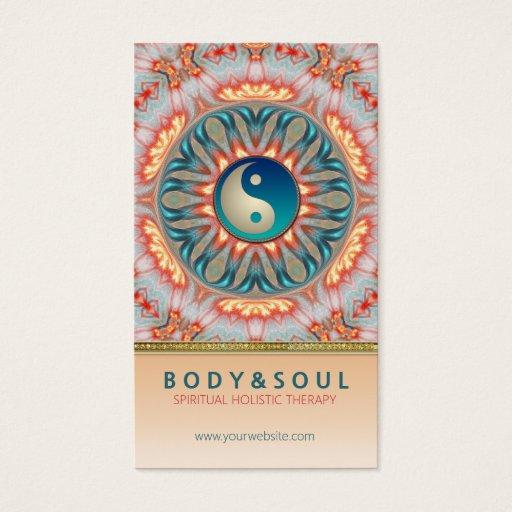 Inner Fire Energy Yin Yang Holistic Business Card
