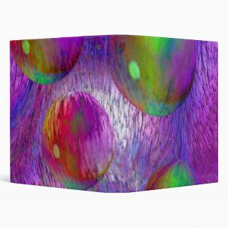 Inner Flow I Abstract Fractal Green Purple Galaxy Binders