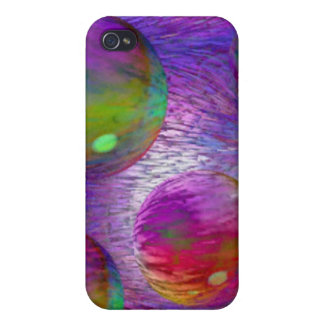 Inner Flow I Abstract Fractal Green Purple Galaxy Covers For iPhone 4