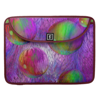 Inner Flow I Abstract Fractal Green Purple Galaxy MacBook Pro Sleeve