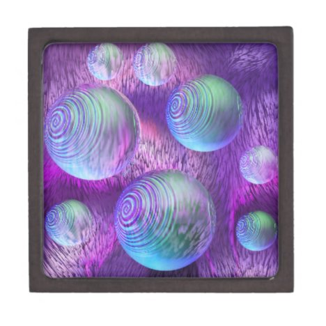 Inner Flow II - Abstract Indigo & Lavender Galaxy Gift Box