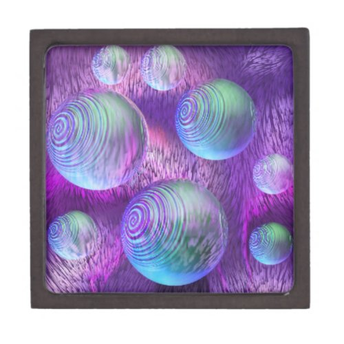 Inner Flow II - Abstract Indigo &amp&#x3B; Lavender Galaxy Gift Box