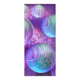 "Inner Flow II - Abstract Indigo & Lavender Galaxy 4"" X 9.25"" Invitation Card"
