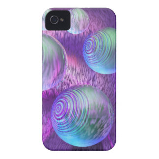 Inner Flow II - Abstract Indigo & Lavender Galaxy iPhone 4 Case