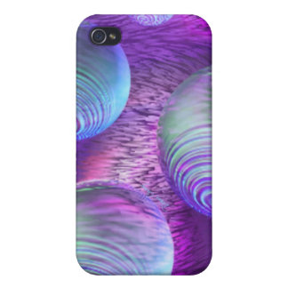 Inner Flow II - Abstract Indigo & Lavender Galaxy iPhone 4 Covers