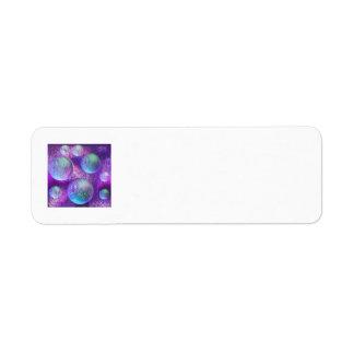 Inner Flow II - Abstract Indigo & Lavender Galaxy Label