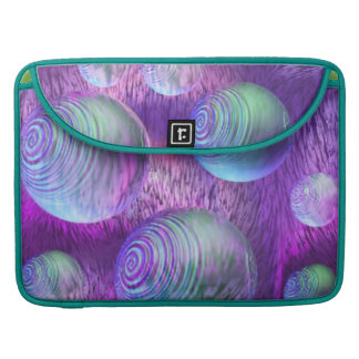Inner Flow II - Abstract Indigo & Lavender Galaxy Sleeve For MacBooks