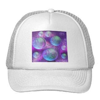 Inner Flow II - Abstract Indigo & Lavender Galaxy Trucker Hat