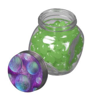 Inner Flow II, Abstract Indigo Lavender Universe Glass Jars