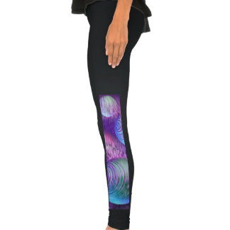 Inner Flow II, Abstract Indigo Lavender Universe Legging