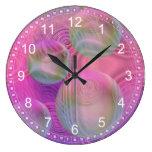 Inner Flow III – Fuchsia & Violet Abstract Clock