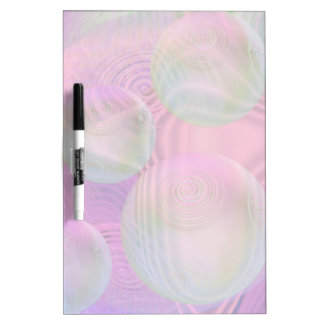 Inner Flow III – Fuchsia & Violet Abstract Galaxy Dry-Erase Board