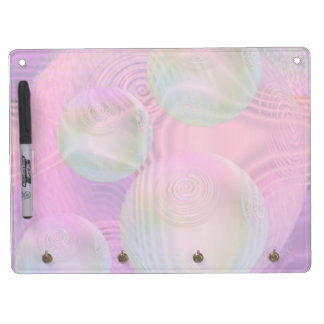 Inner Flow III – Fuchsia & Violet Abstract Galaxy Dry Erase Board With Keychain Holder