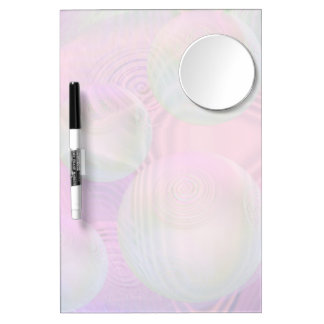 Inner Flow III – Fuchsia & Violet Abstract Galaxy Dry Erase Board With Mirror