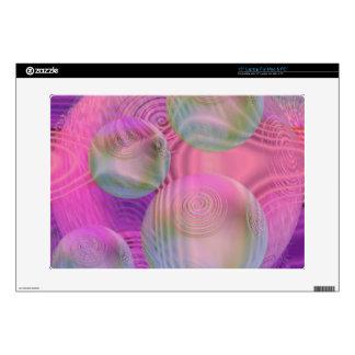 Inner Flow III – Fuchsia & Violet Abstract Galaxy Laptop Skins