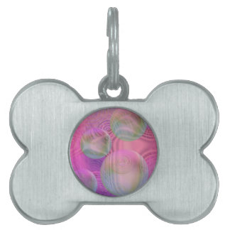 Inner Flow III – Fuchsia & Violet Abstract Galaxy Pet Name Tag