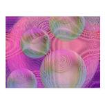 Inner Flow III – Fuchsia & Violet Abstract Galaxy Postcard
