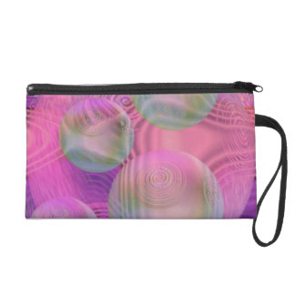 Inner Flow III – Fuchsia & Violet Abstract Galaxy Wristlet