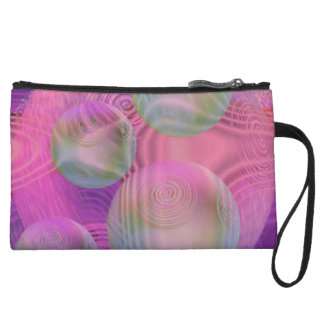 Inner Flow III – Fuchsia & Violet Abstract Galaxy Wristlet Wallet