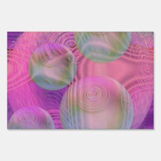 Inner Flow III – Fuchsia & Violet Abstract Galaxy Yard Sign