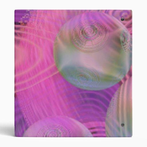 Inner Flow III – Fuchsia & Violet Galaxy Vinyl Binder