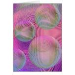 Inner Flow III – Fuchsia & Violet Galaxy Greeting Card