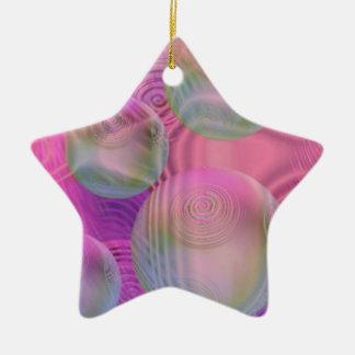 Inner Flow III – Fuchsia & Violet Galaxy Ceramic Ornament