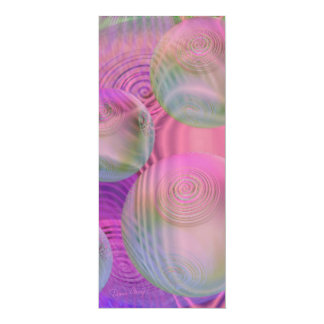 "Inner Flow III – Fuchsia & Violet Galaxy 4"" X 9.25"" Invitation Card"