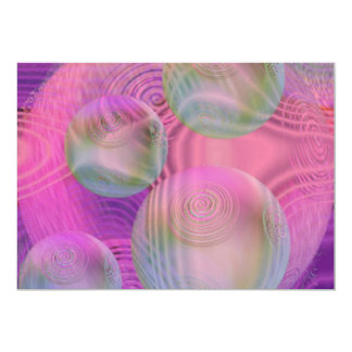 "Inner Flow III – Fuchsia & Violet Galaxy 5"" X 7"" Invitation Card"