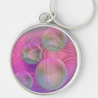 Inner Flow III – Fuchsia & Violet Galaxy Keychain
