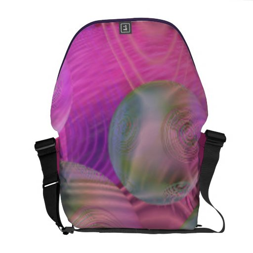 Inner Flow III – Fuchsia & Violet Galaxy Commuter Bag