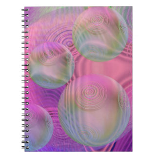 Inner Flow III – Fuchsia & Violet Galaxy Note Book