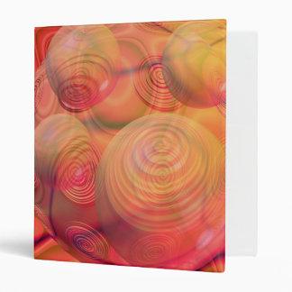 Inner Flow IV Fractal Abstract Orange Amber Galaxy 3 Ring Binder