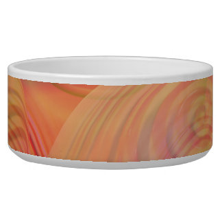 Inner Flow IV Fractal Abstract Orange Amber Galaxy Bowl