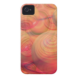 Inner Flow IV Fractal Abstract Orange Amber Galaxy Case-Mate iPhone 4 Cases