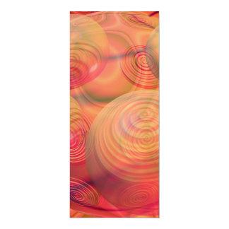 "Inner Flow IV Fractal Abstract Orange Amber Galaxy 4"" X 9.25"" Invitation Card"